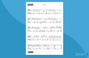 Arrangiamento per pianoforte dell'Adagio di Albinoni