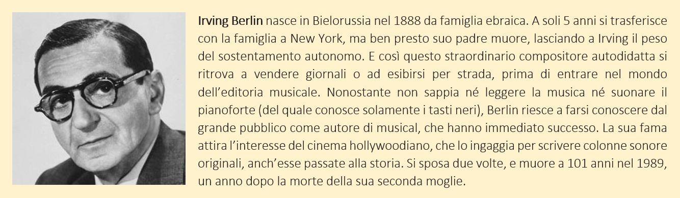 Breve biografia di Irving Berlin
