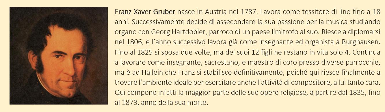 Breve biografia di Franz Xaver Gruber
