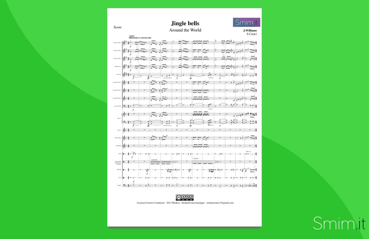 arrangiamento per orchestra scolastica di jingle bells around the world