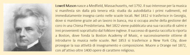 Breve biografia di Lowell Mason