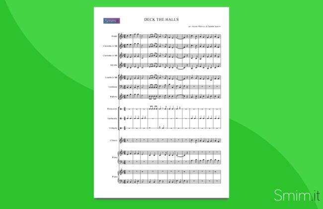 Deck the Halls - Partitura per Orchestra Scolastica