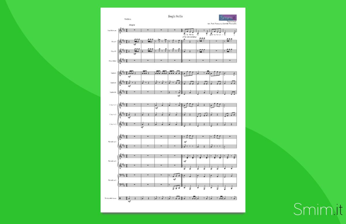 Jingle Bells | Partitura gratis