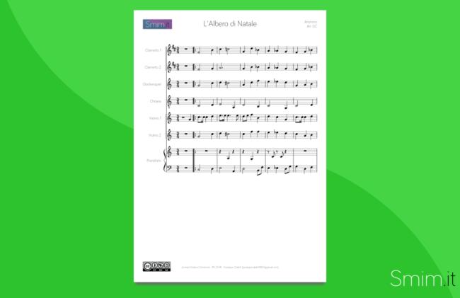 arrangiamento per orchestra scolastica di o christmas tree