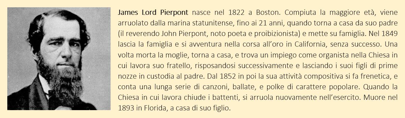 breve biografia di James Lord Pierpont