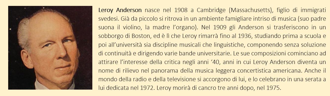 biografia breve di Leroy Anderson