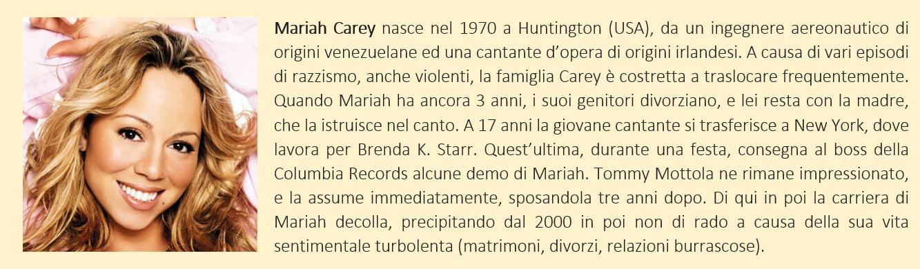 breve biografia di mariah carey