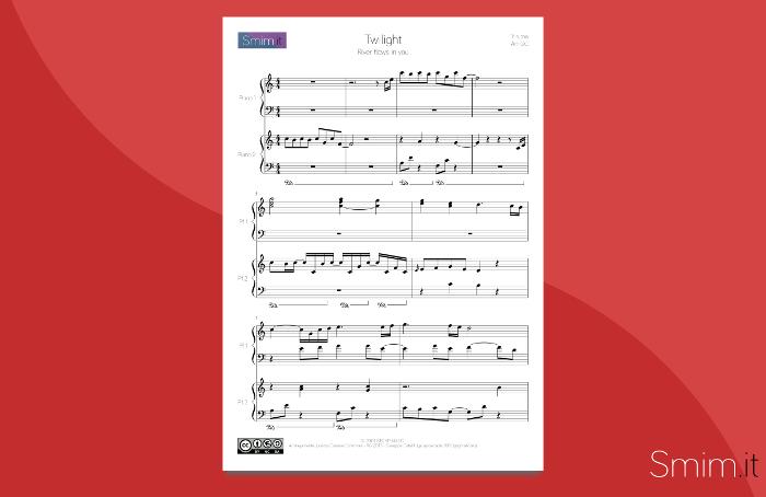 Spartito gratis in PDF del brano di Yiruma 'River Flows in You'