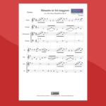 bach - minuetto in sol - spartito per flauto chitarra e percussioni