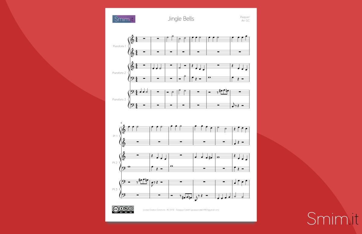 Jingle Bells - spartito gratis in pdf