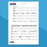Jingle Bells - spartito gratis per pianoforte a 6 mani