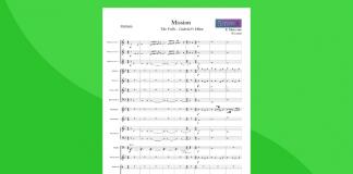 gabriel's oboe, partitura per orchestra scolastica