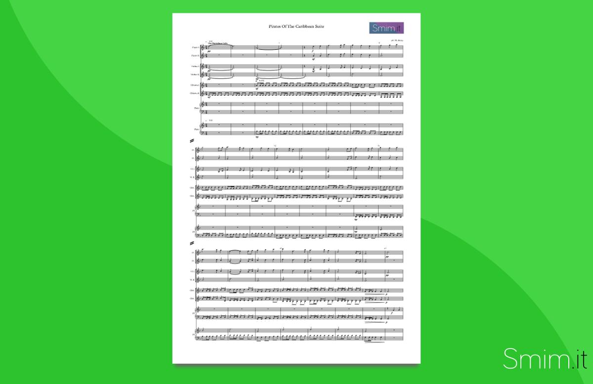 Pirati dei caraibi partiture per orchestra scolastica for Disegni di case dei caraibi