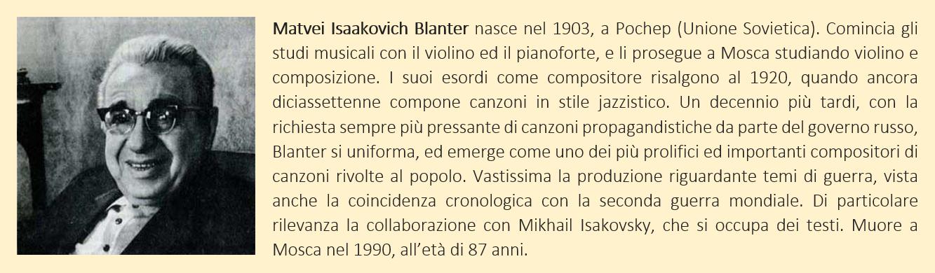 Matvey Blanter - biografia breve