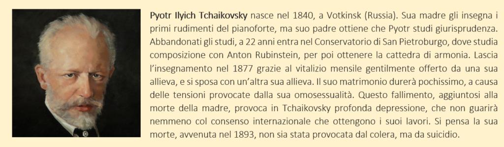 Tchaykovsky Pyotr - Biografia Breve