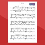 Musetta in re di Bach - Spartito gratis per vibrafono e marimba