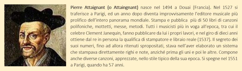 Attaignant, Pierre - biografia breve