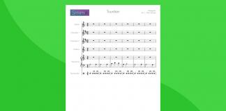 Tourdion di Attaignant - partitura gratis per orchestra scolastica