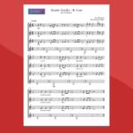 Estudios Sencillos: n.2 Coral (Brouwer) - spartito gratis per ensemble di chitarre