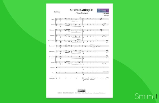 Tango Baroquita - Partitura gratis per orchestra scolastica