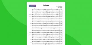 te deum di charpentier - partitura gratis per orchestra scolastica
