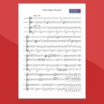 Mozart - Papageno Papagena - spartito gratis per xilofono vibrafono e marimba