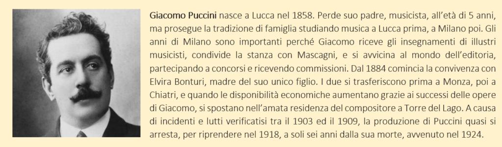 Puccini, Giacomo - biografia breve