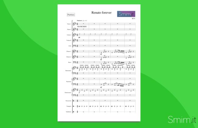 Renato Zero Medley - Partitura gratis per orchestra scolastica