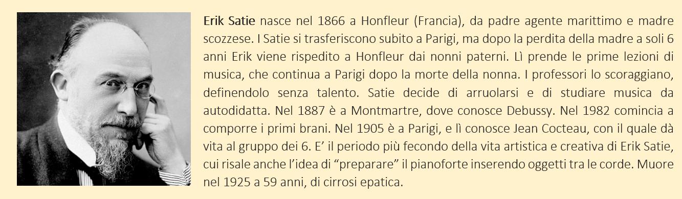 Satie, Erik - biografia breve