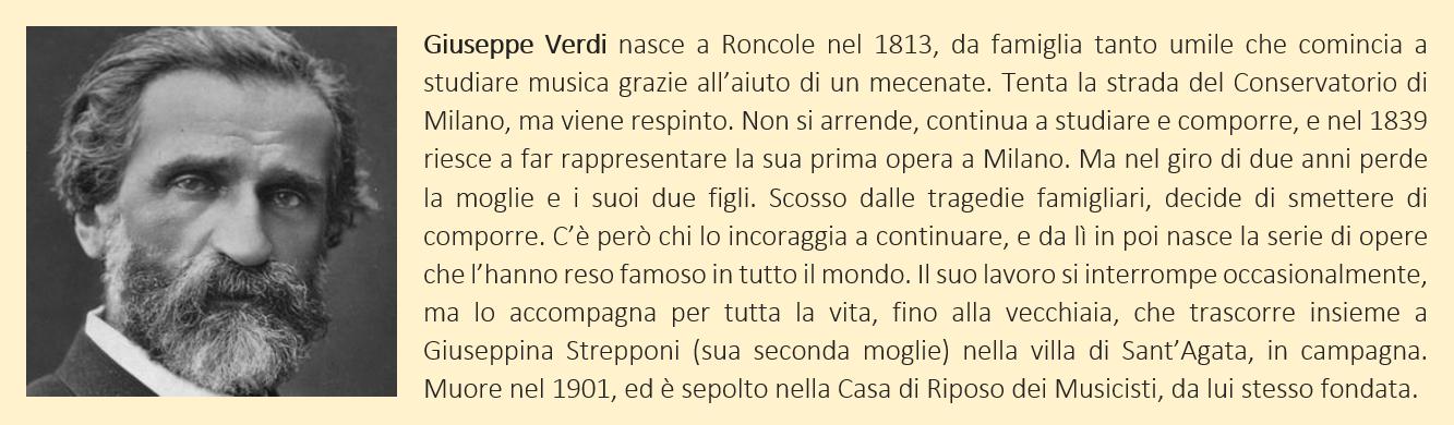 Verdi, Giuseppe - biografia breve