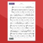 bella, da notre dame de paris - spartito gratis per violino e pianoforte