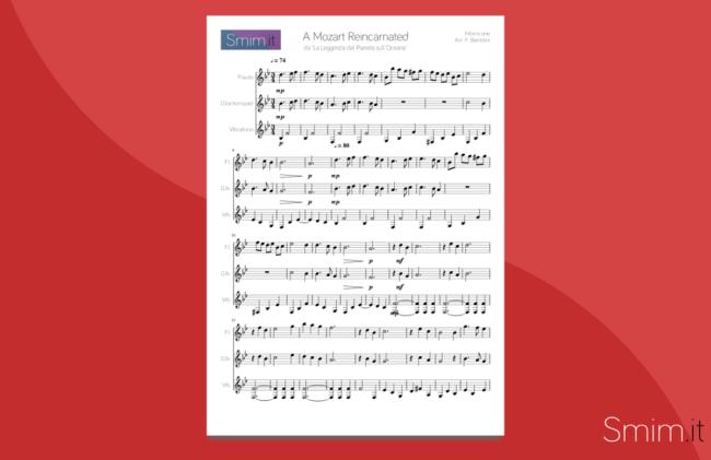 A Mozart Reincarnated - Spartito Gratis per flauto e percussioni