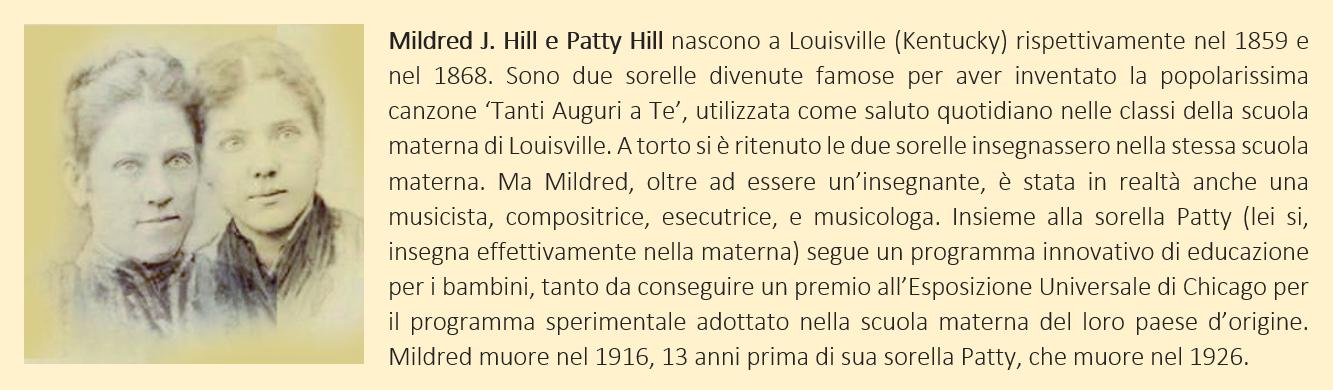 Hill Mildred e Patty - biografia breve
