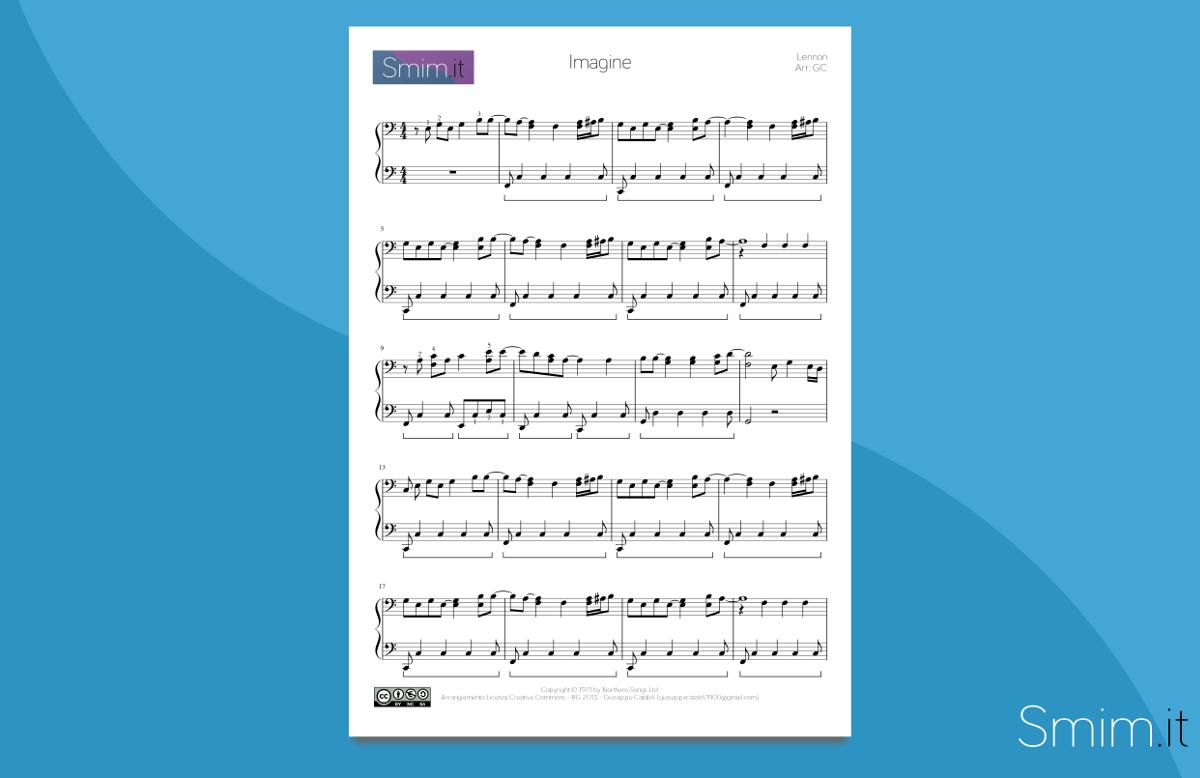 Imagine - Spartito per Pianoforte
