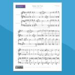 Valzer dei Fiori di Tchaikovsky - Spartito gratis per pianoforte a 4 mani