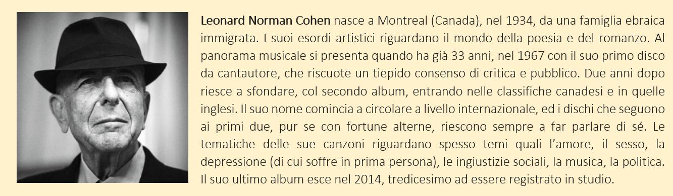 biografia breve di Leonard Cohen