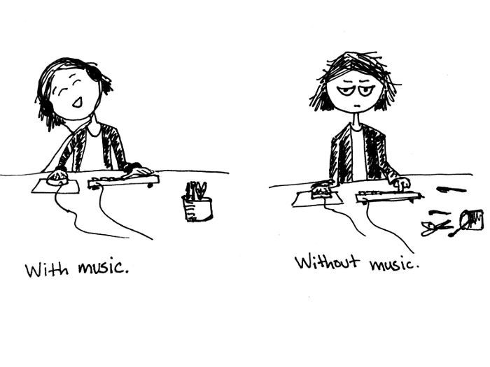 ascoltare musica per lavorare meglio