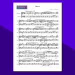 Marcia in Re Maggiore di Bach - spartito per vibrafono e marimba