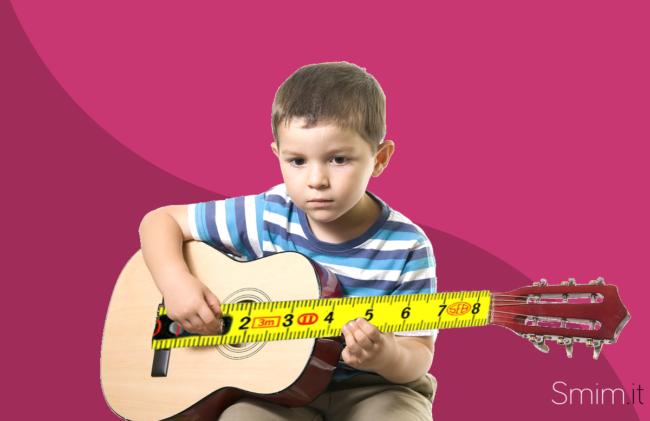 che dimensioni deve avere la chitarra di chi inizia a suonare?