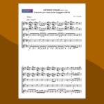 Concerto per Liuto in Re Maggiore: spartito gratis per 5 chitarre