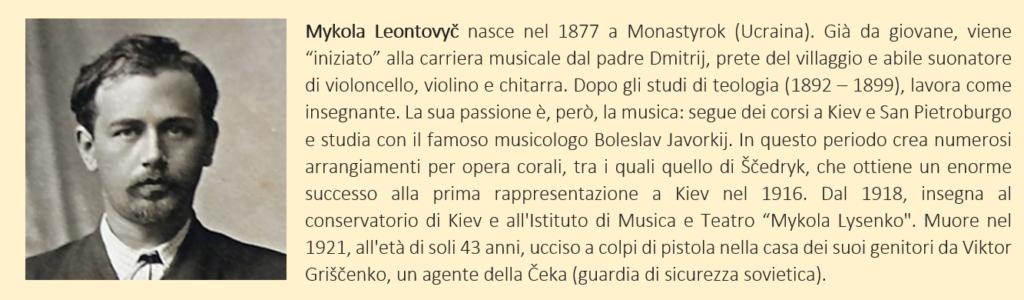 Leontovych, Mykola - biografia breve
