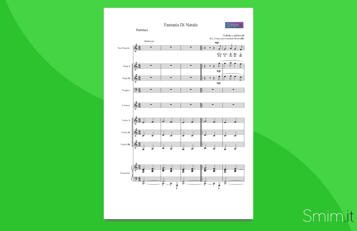 christmas medley - fantasia natalizia | partitura gratis per orchestra scolastica