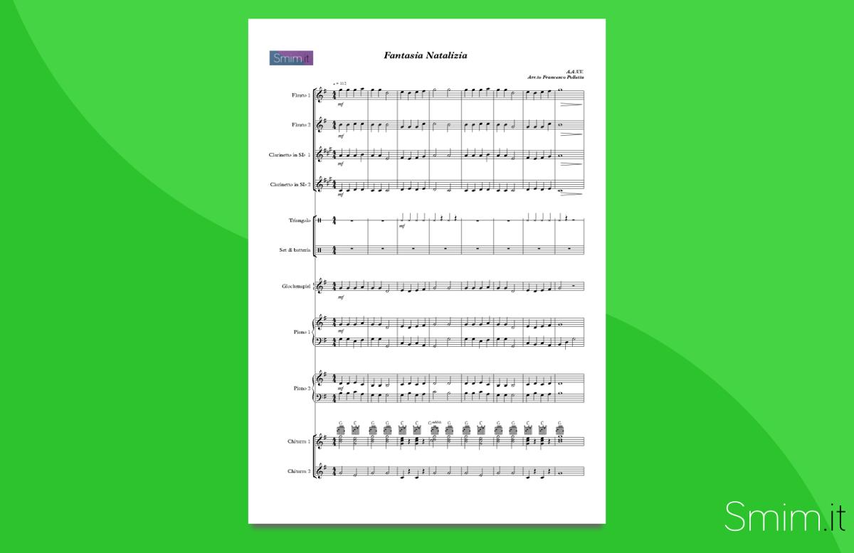 christmas medley - partitura gratis per orchestra scolastica