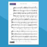 deck the halls - spartito gratis per pianoforte 4 mani