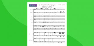 gli angeli delle campagne (angels we have heard on high) - partitura gratis per orchestra scolastica