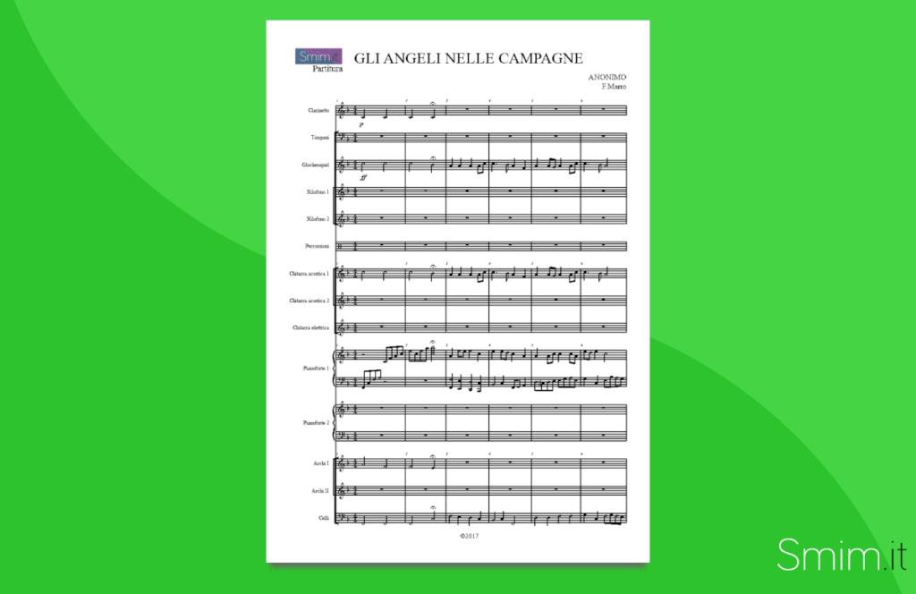 gli angeli delle campagne | partitura gratis per orchestra scolastica
