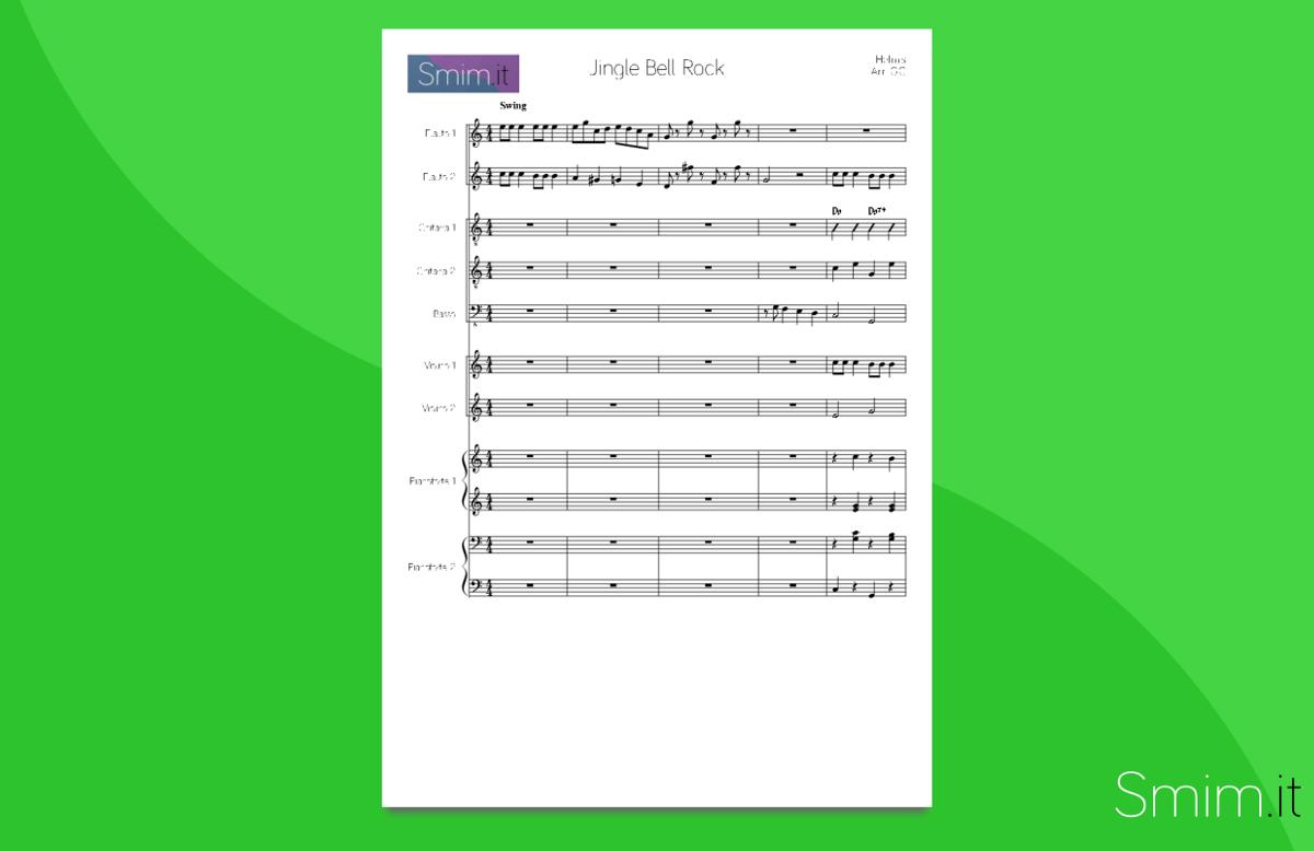 jingle bell rock - partitura gratis per orchestra scolastica
