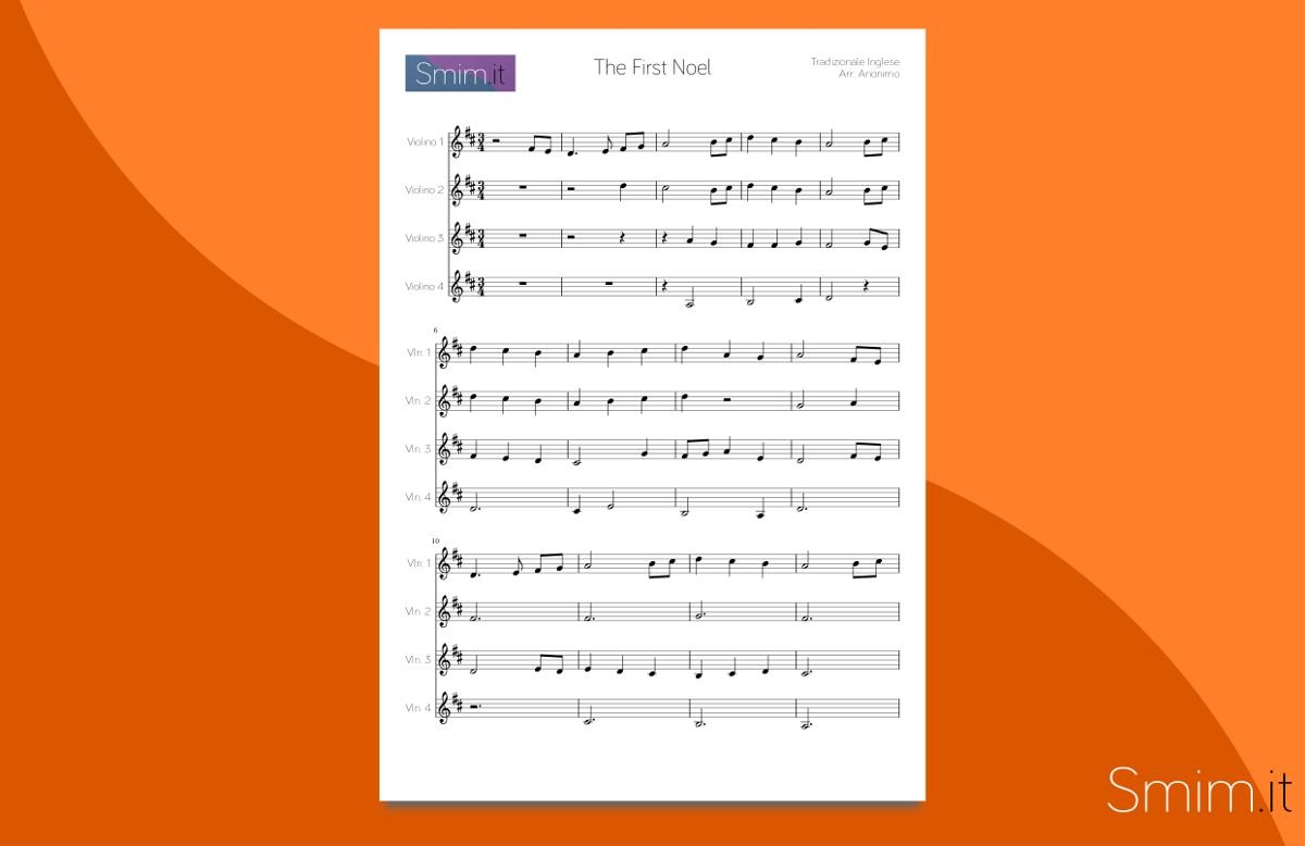 the first noel - spartito gratis per ensemble di violini