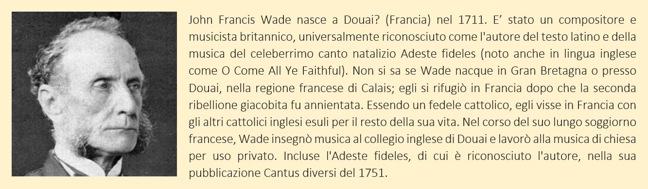 Wade, John Francis - biografia breve