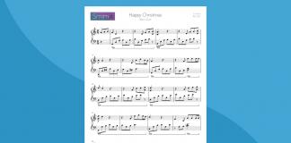 Happy Xmas - Spartito per Pianoforte